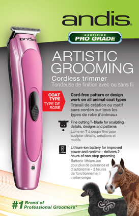 Andis 25185 Artistic Trimmer for creative designs in pet grooming
