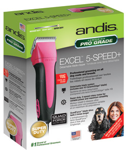 Andis 65355 Fuchsia Excel Clippers for Professional Dog Groomers