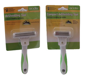 Andis Green and White Deshedder Set