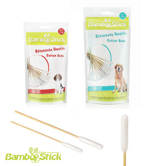 Bamboo Sticks Cotton Swabs for Dogs and cats