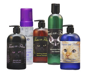 Focus on Felines Professional Cat Grooming Products Sample Pak