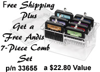 Get A Free Andis Steel Comb Set when you purchase the Andis Pulse ZR II