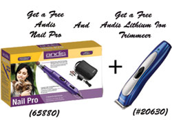 Get a Free Andis Nail Grinder and a Lithium Ion Trimmer Free when you Purchase an Andis Powergroom Plus Clipper