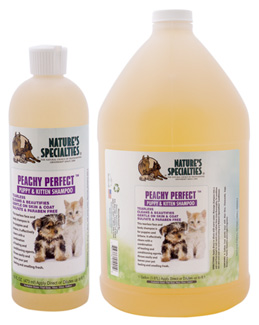 Natures Specialties Peachy Perfect Tearless Pet Shampoo