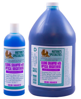 Nature's Specialties Aloe Bluing Shampoo with optical brightners