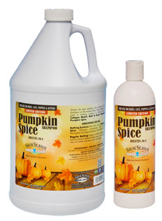 Show Season Pumpkin Spice Holiday Pet Shampoo for Dogs and Cats